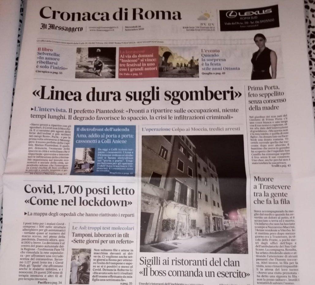 La #camorra risolve con l'usura la crisi del turismo e della ristorazione a #Roma.  Il nuovo prefetto #Piantedosi annuncia linea dura sulle occupazioni e militari nei campi Rom. Non fa una piega. https://t.co/OKs4VnXWNh https://t.co/UtgtCoEprL
