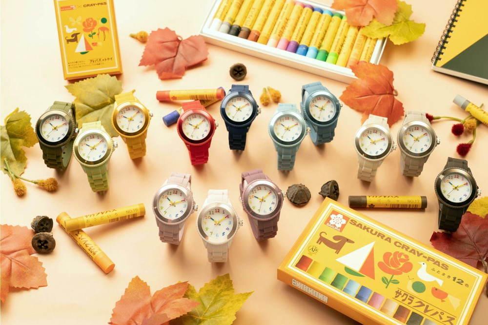 「サクラクレパス」腕時計に秋冬新カラー13色、ブルーや人気No.1パープルなど多彩な展開に -