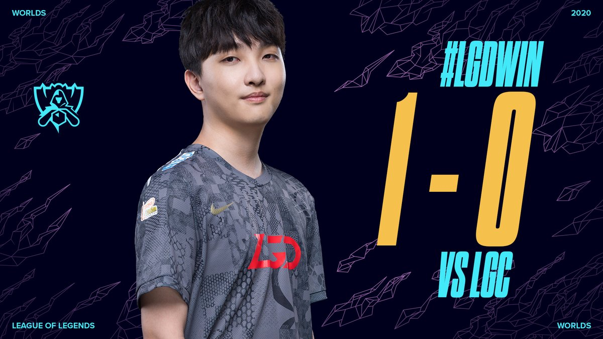 #LGDWIN: 1-0  Domination by @LGDgaming in Game 1! #Worlds2020 https://t.co/9JDfcygGRL.