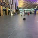 Image for the Tweet beginning: King's Cross - commuter rush