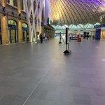 Image for the Tweet beginning: King's Cross - commuter rush