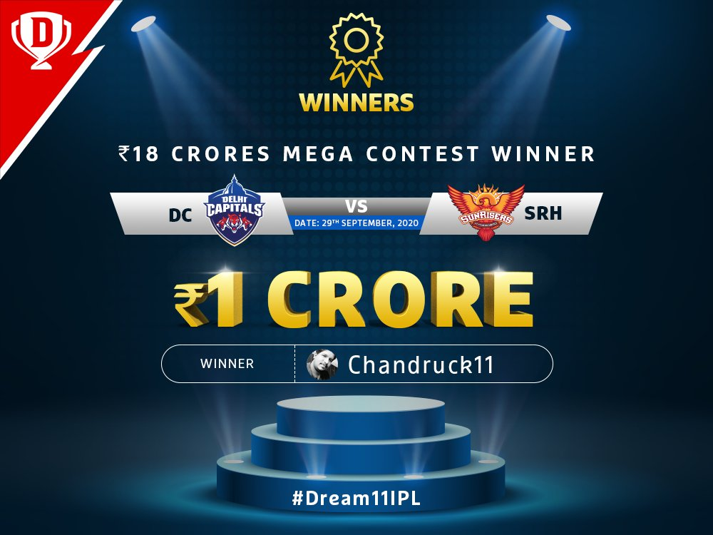 BIG clashes = BIG winnings! 🏏💰  Special shout-out to all the winners of the Mega Contest! 🥳  #Dream11IPL #YahanSabSameHai #YeApnaGameHai