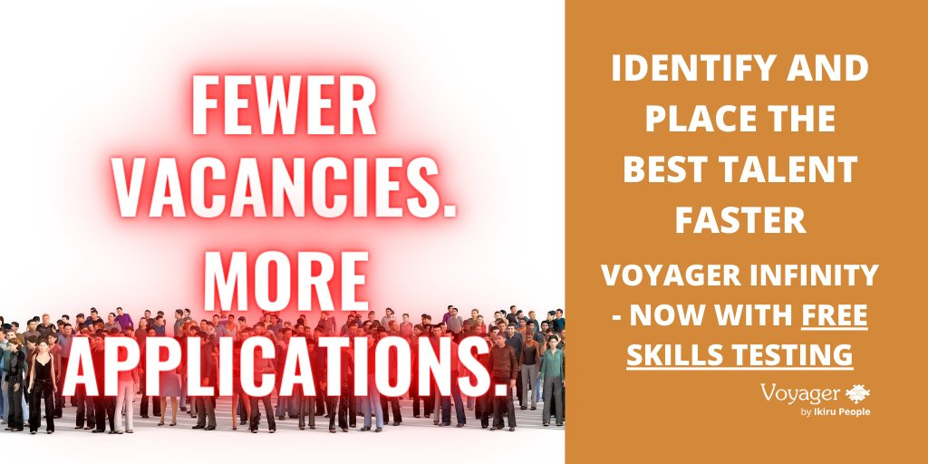Less vacancies and more candidates mean one thing: #Recruiters need help to manage the rise in applications. Voyager Infinity #Recruitment #CRM offers FREE #Skills Testing - book your demo: https://t.co/eZVyunsYMI https://t.co/ZtpiNkzxIp