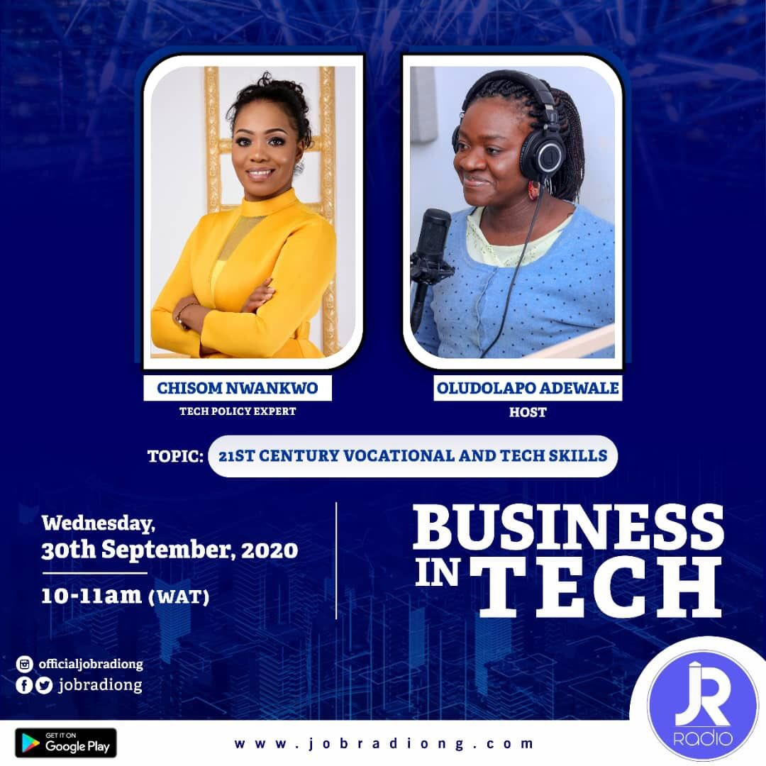 #stilltocome  #businessintech with @mcdollypee comes up at the 10am today. Our guest today will be taking us through the 21st Century vocational and tech skills. You can listen via the link in bio.  You don't want to miss this! . #wittywednesday #buisness #tech #skills https://t.co/OPqx3zQrn9