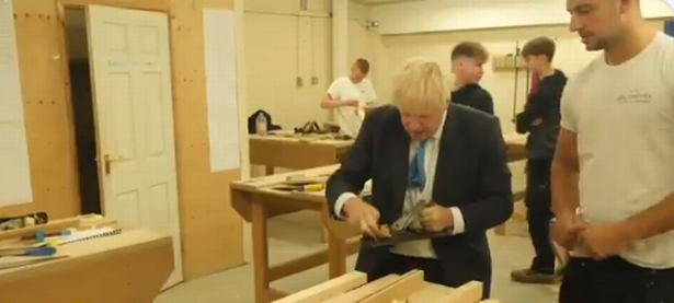 Boris 'Misspoke' Johnson, who doesn't know his own rules, practising social distancing yesterday.