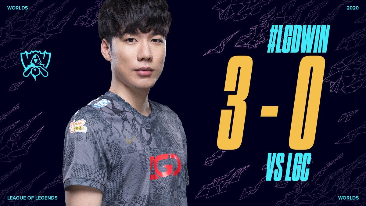 #LGDWIN: 3-0  @LGDgaming advance to the #Worlds2020 Group Stage! https://t.co/0QiMUiOg5B.