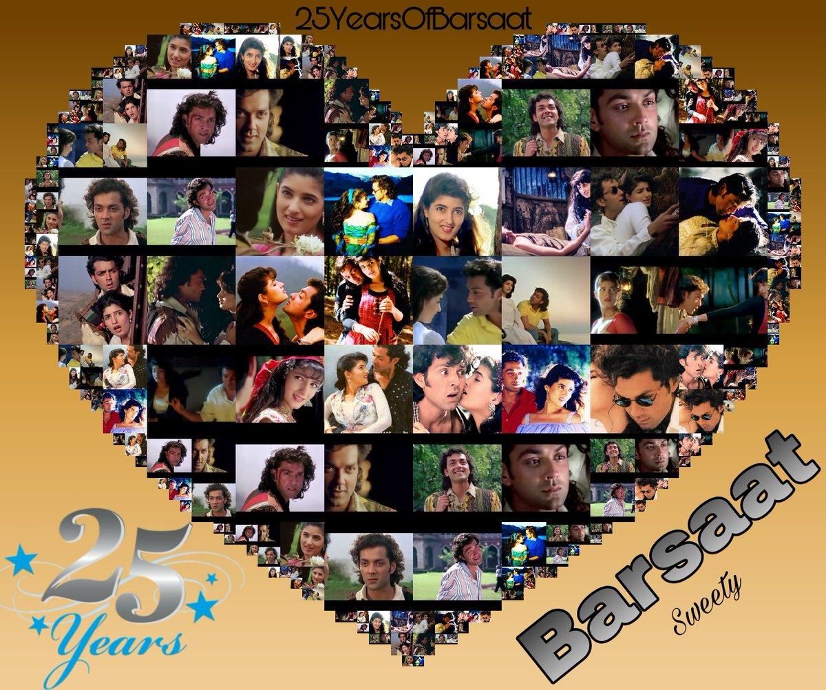 Congratulations Team #Barsaat yayyy completes 25yrs 🥳🥳 my all time favorite movie #Barsaat made me deols fan 😍 @thedeol @mrsfunnybones @aapkadharam #Vijetafilms #Rajbabbar    #25YearsOfBarsaat #BadslTina ❤  #Bestactorawardforbobby #bobbydeol4bestactor #Award4bobbydeol