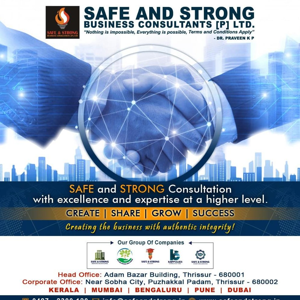 Greetings of the day....!!!!  We are introduce our group of companies Safe & Strong Business Group.  Having a Glorious Franchise Business in PAN INDIA into Engineers & Developers , Consultation, Academy, Media, Marketing & Services. Give a missed call : 9867161914 https://t.co/1wJsagxOFh