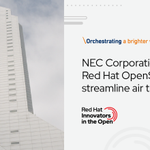 Image for the Tweet beginning: .@NEC_corp uses #RedHat @OpenShift as