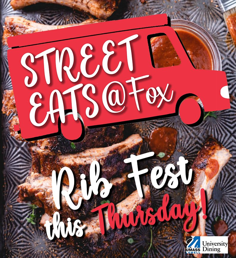 Street Eats continues with Rib Fest tomorrow!  Resident Students, check your email for sign-up link!  #streeteats #ribfest #bbq https://t.co/2WRpcMNhzn