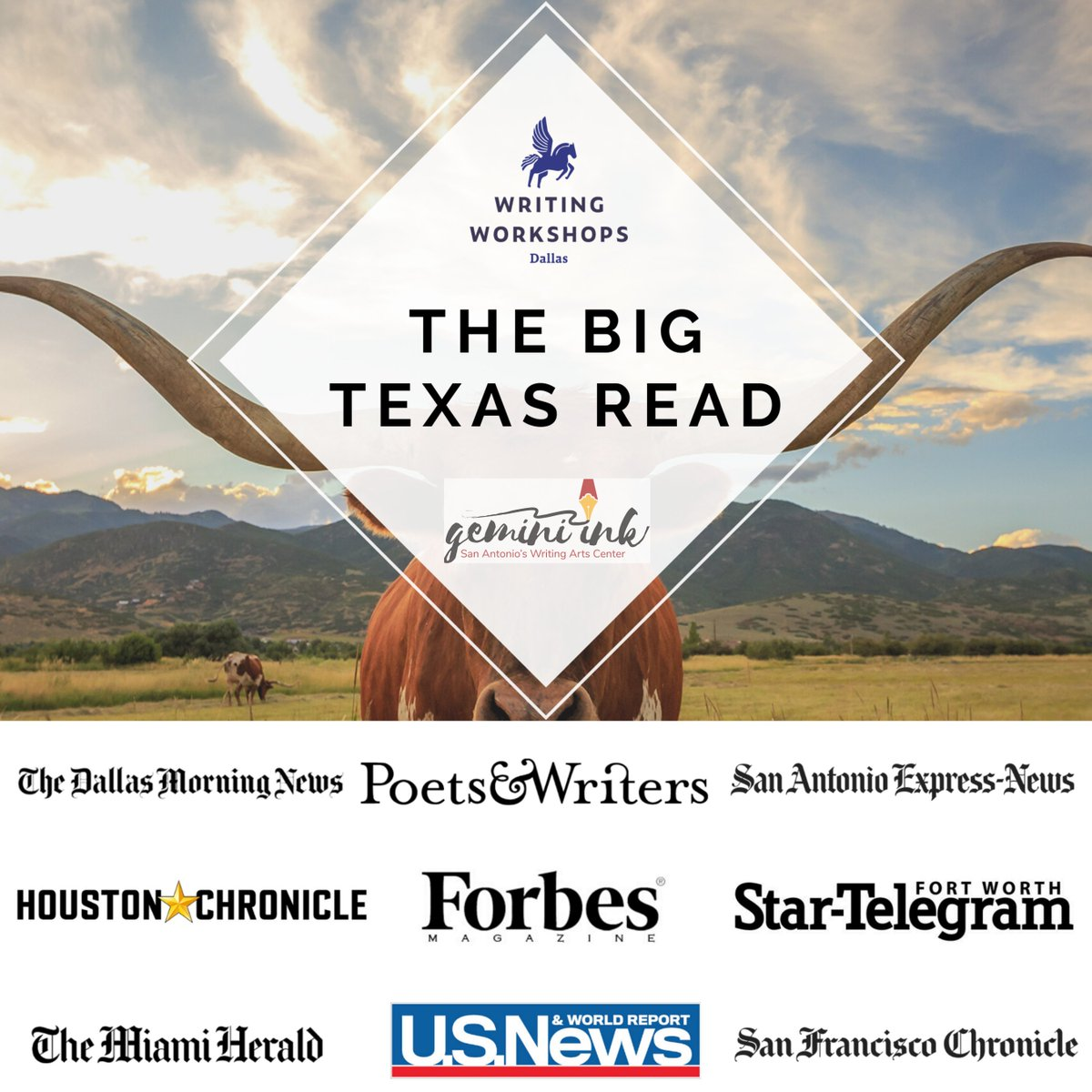 Join us on Zoom for The Big Texas Read TONIGHT (9/30) at 7PM CST for a conversation between Edgar-winning novelist @joelansdale and bestselling novelist @HarryHunsicker. Presented by @DallasWriters & @GeminiInk. RSVP here: writingworkshops.com/pages/the-big-…