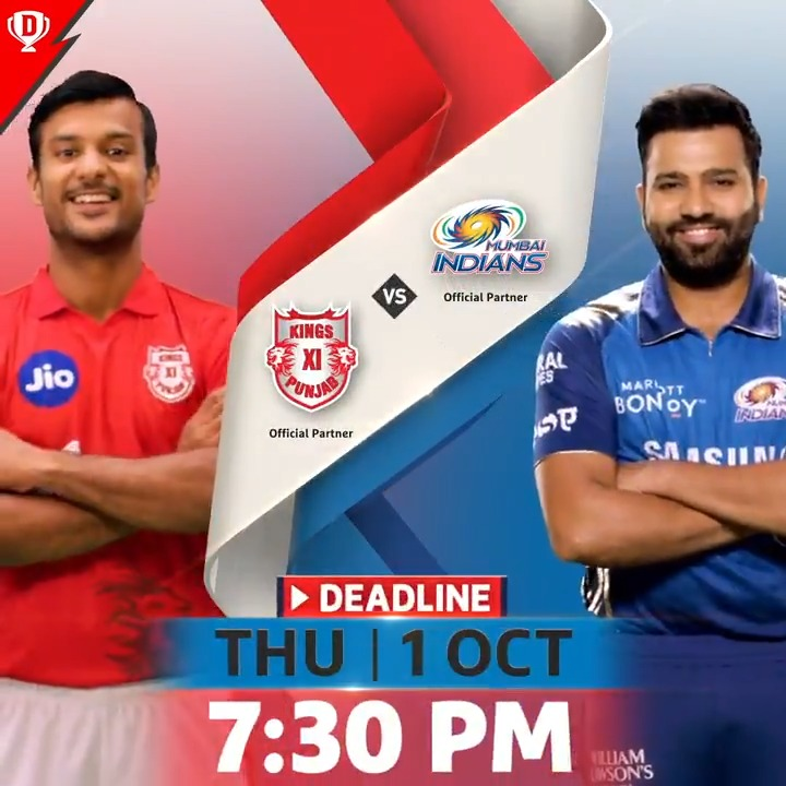 Will @ImRo45 be a part of your #Dream11 when @mipaltan face @lionsdenkxip? 🤩  Make your team now! 👉🏼   #Dream11IPL #YahanSabSameHai #YeApnaGameHai #KXIPvMI @IPL @mayankcricket