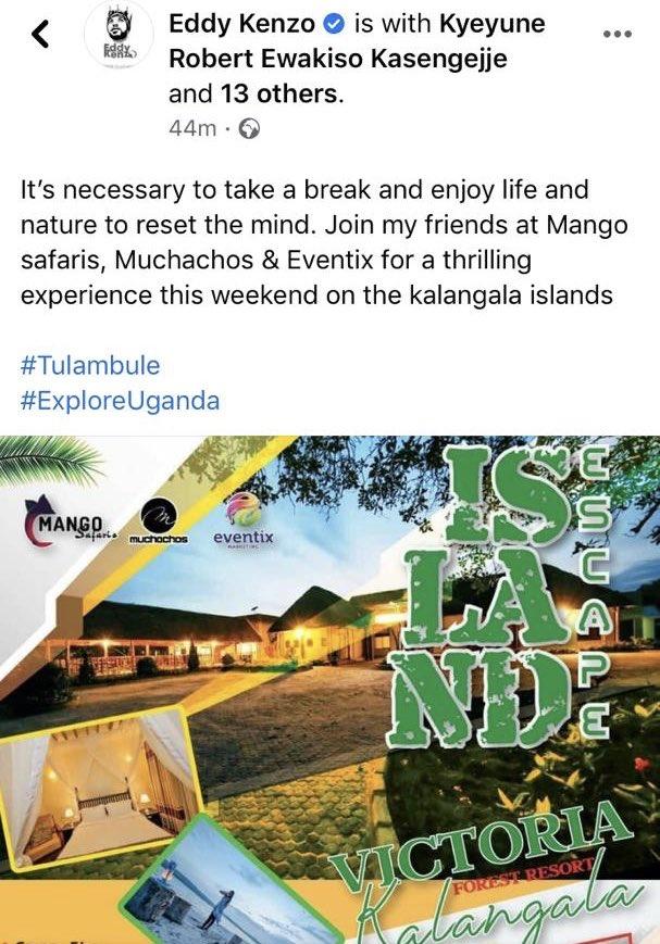 For bookings call 0200917000  #TulambuleUganda  #VisitUganda  @eddykenzoficial 💪