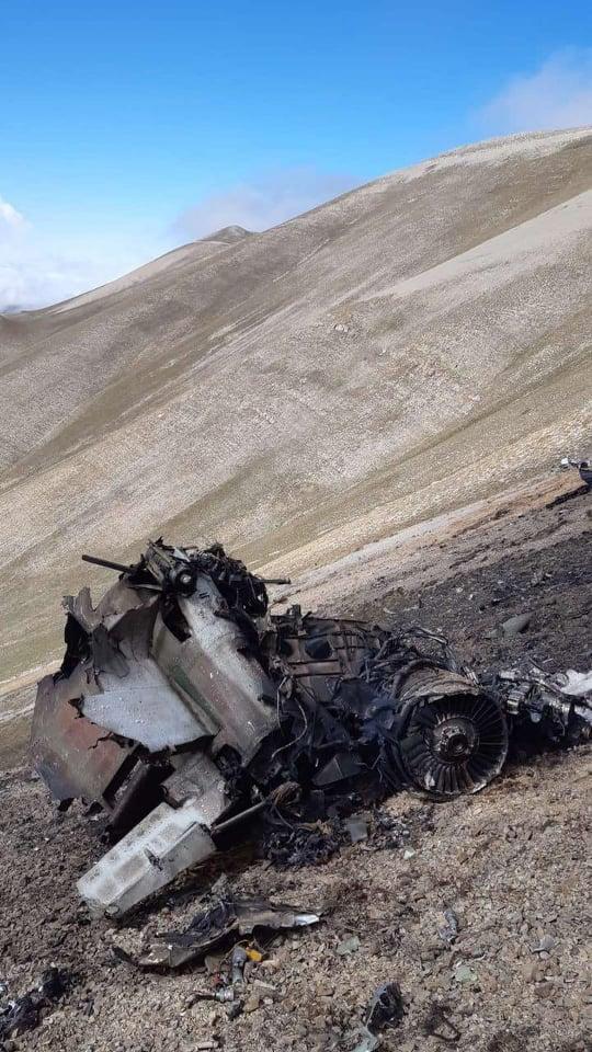 Обломки армянского Су-25