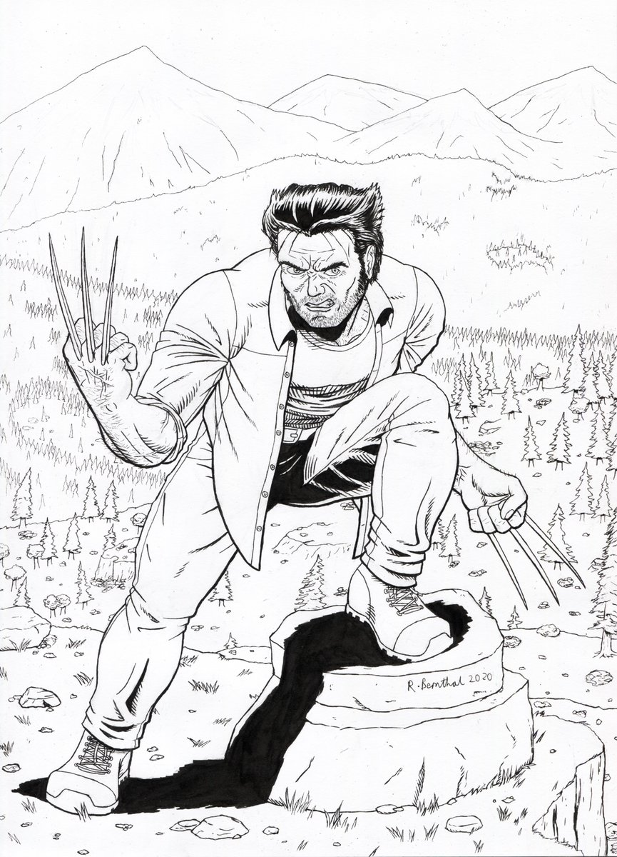 Inks on Wolverine are done! #Wolverine #Marvel #Inks
