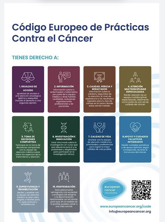 Nunca viene mal recordar el Código Europeo de Prácticas contra el Cáncer. Gracias @SarayAsociacion. Para reflexionar... #cancer https://t.co/zN5j0BOlw1