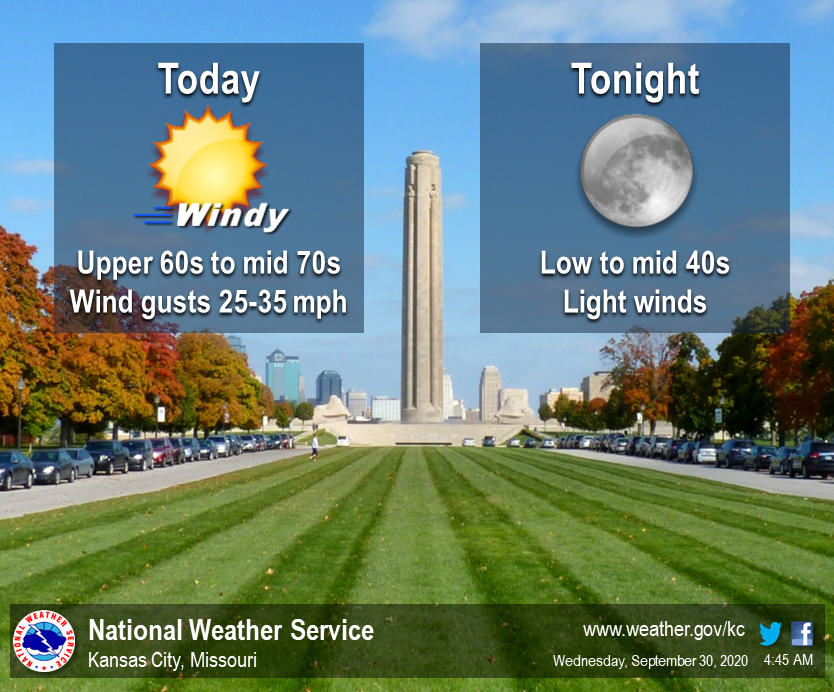 It will be a breezy Wednesday as a cold front makes its way through the region this morning. Wind gusts will reach as high as 25 to 35 mph before relaxing later this afternoon as high temperatures climb into the upper 60s to mid 70s. https://t.co/BgqgdMvte5
