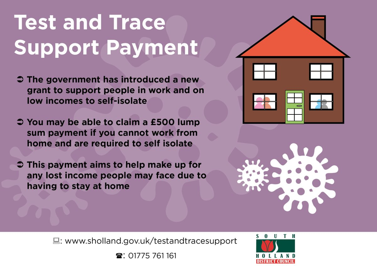 The Government has introduced a new grant to support people in work and on low incomes to self-isolate. ✋🏠  You may be able to claim a £500 lump sum payment if you cannot work from home and are required to self-isolate.  To find out more click here 👉 https://t.co/nKmNNZcZHw https://t.co/8w7OwNANLD