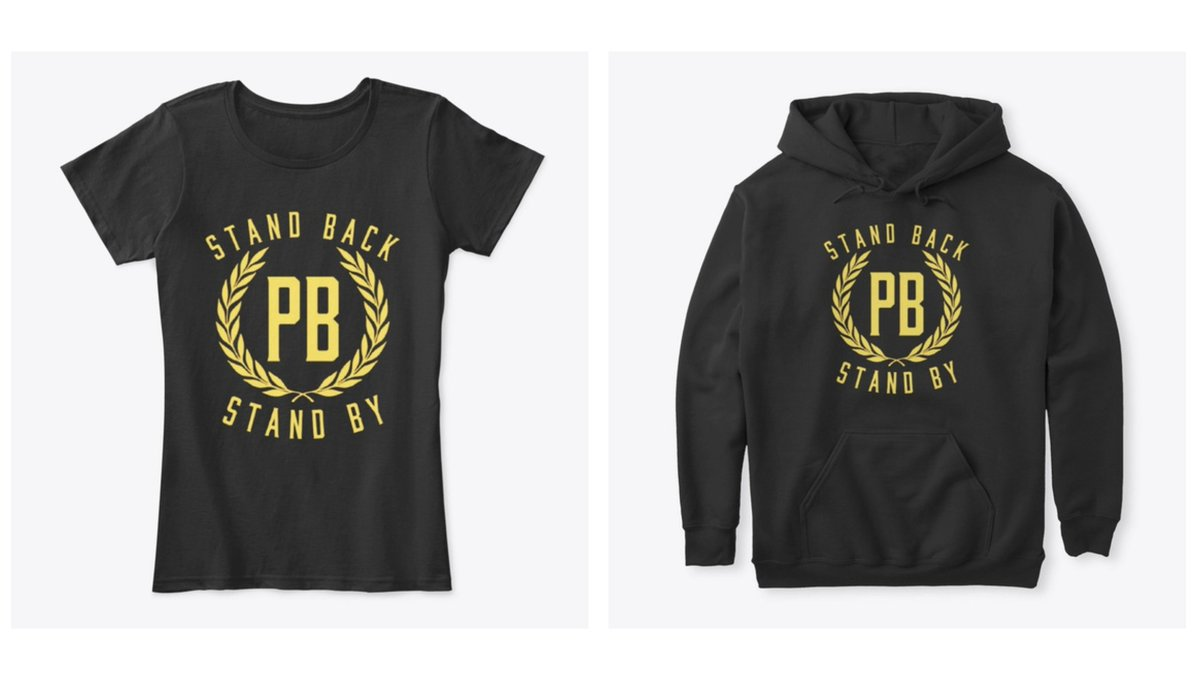 """At the debate, President Trump would not condemn white supremacists and told the Proud Boys to """"stand back and stand by.""""  Proud Boys T-shirts with the slogan are already being sold.  The group is a @splcenter-listed hate group and linked to the deadly 2017 Charlottesville march. https://t.co/IA6edsVOWi"""