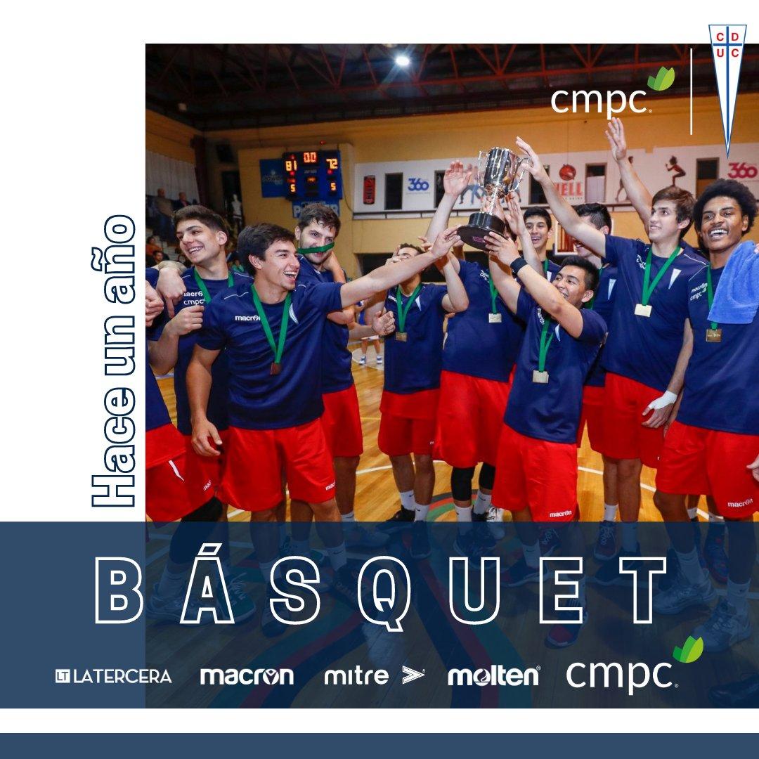 """Hace un año, el Basket UC se quedó con la """"Copa CMPC 100 años"""" 🏀🏆🔥 Los cruzados vencieron por 82-72 a Puente Alto y se llevaron la Copa. ¡¡Grande equipo!! 💪🏼  #BasketUC #FibradeCampeones #MásDeporte #Copa100AñosCMPC #LaTercera #Mitre #Molten #Macron #SportWay https://t.co/sSXkyhVRqI"""