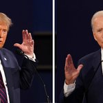 Image for the Tweet beginning: Trump and Biden take different