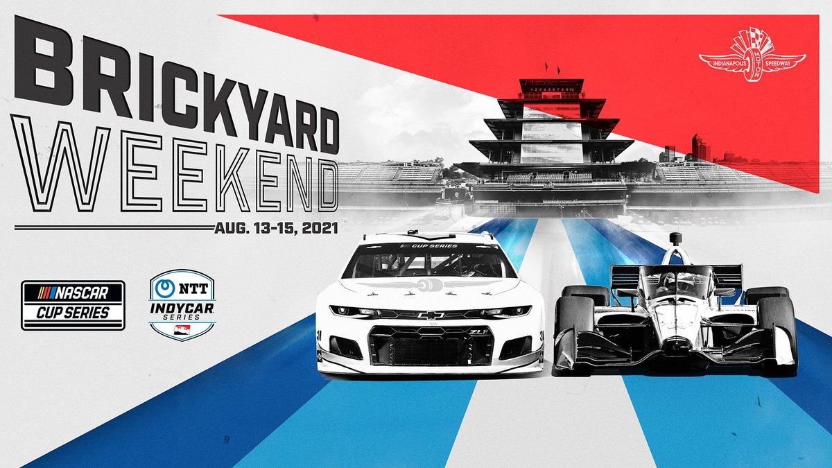 The two premier North American motorsports series are back together again. 🚗🏎  The 2021 Brickyard weekend will feature the return of @NASCAR and @IndyCar on Aug. 14-15, offering a one-of-a-kind, marquee sports weekend in Indianapolis. https://t.co/m0R5yziFCC