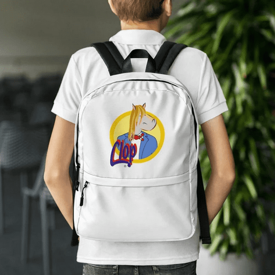 Do you like my new backpack? Here: https://t.co/MdwJZHJKWy #Clop #adventures #fun #comics #backpack https://t.co/9dSi39jVMe