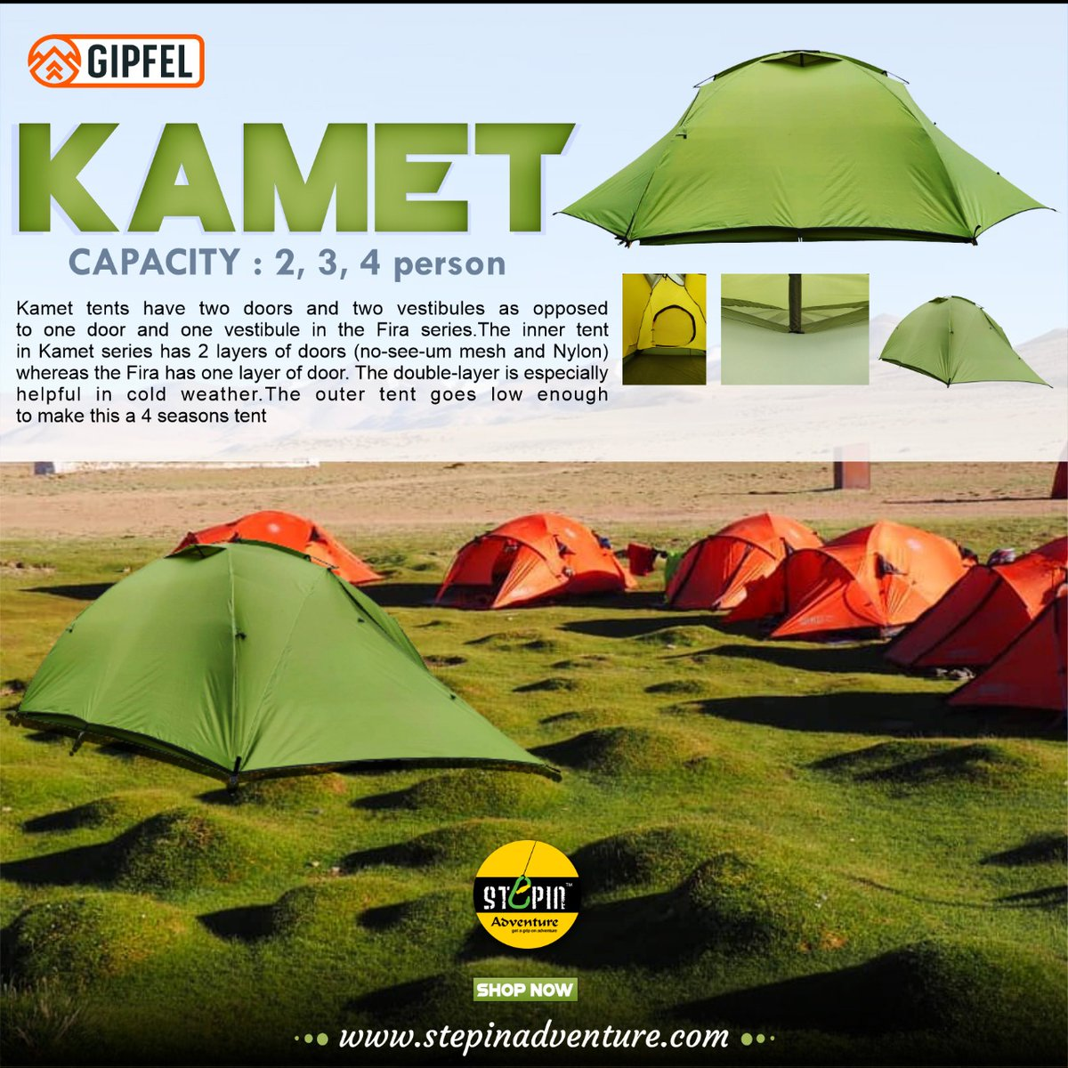 Gipfel Kamet range of tents are a step up from one of our oldest and most popular Fira series. https://t.co/cTxgpASf6P #gipfeltents #tent #climbinginindia #climbingwithhippieinhills #expedition #expeditionlife #gipfelclimbingequipment #himalayas   #treklife #treklikealocal https://t.co/QFSOcS8Np8