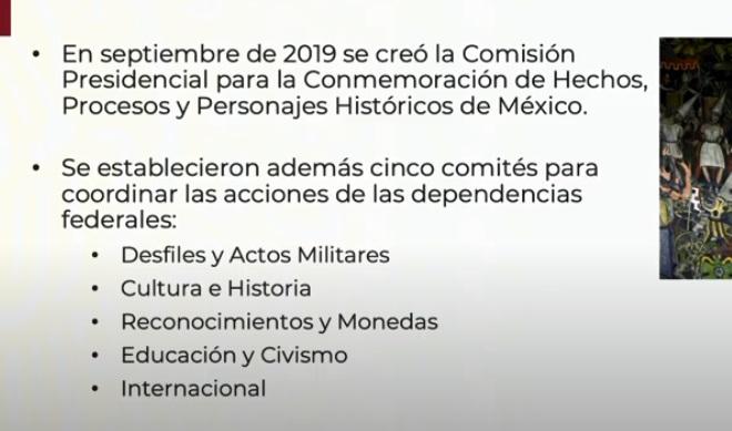 El canciller Marcelo Ebrard, indicó  que del 15 al 27 de septiembre se llevarán a cabo las actividades principales del la conmemoración del año de la Independencia y Grandeza de México.