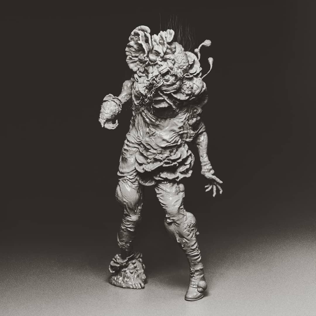 A little late for #lastofusday, but here is my infected concept/fan art 🧟🍄  #wip #3d #2d #zbrush #dynamics #daz3d #b3d #render #photogrammetry #kitbash #creaturedesign #infected #conceptart #videogameart #fanart #homage #videogameartwork #horror #bodyhorror #lastofus #lastofus2 https://t.co/iNYLvMNH2u