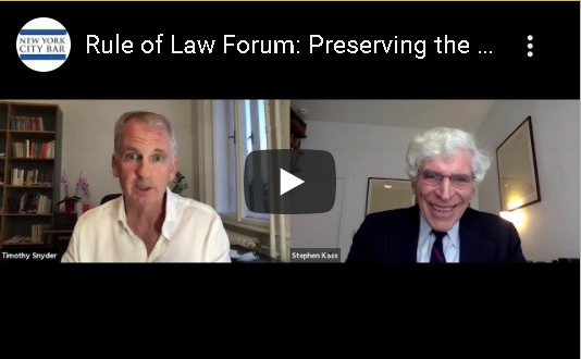 Our Rule of Law Forum, a five-part series, has three more sessions coming up on 10/8, 10/21 & 11/18. You can view session 1 on our website, session 2 soon to come. Rule of Law Forum Session 1: Threats to the Rule of Law in America: A Survey - https://t.co/zuQ3Jvw5gF #RuleofLaw https://t.co/coxAHulVv7