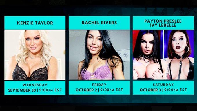 This week on #SuperHornyFunTime!  @thekenzietaylor  @RachelRiversX @PAYTONPRESLEE + @IvyLebellexxx   Start