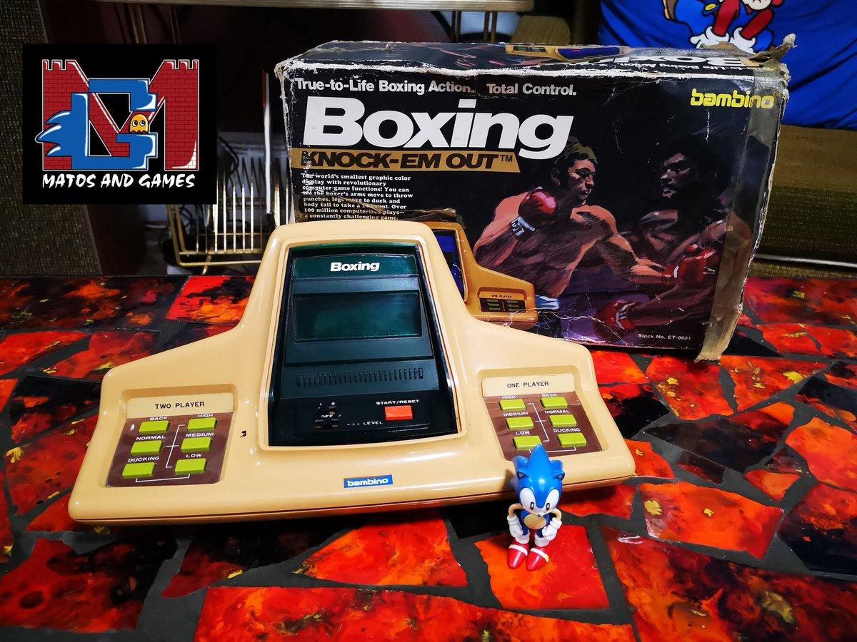 Bien cool ce Boxing Knock Em Out 😎😎😎 #retrogaming #jeuelectronique #boxing #tabletop #matosandgames https://t.co/xiVZPfGwnb