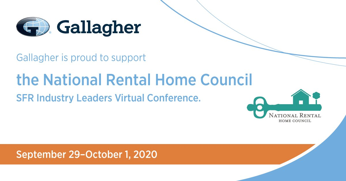 Gallagher is proud to sponsor the @NRHCouncil SFR Industry Leaders Virtual Conference. Register now to attend The Coming Cost Burden – Taxes, Insurance, and Fees featuring Gallaghers Alexandra Glickman. bit.ly/3ikisiW