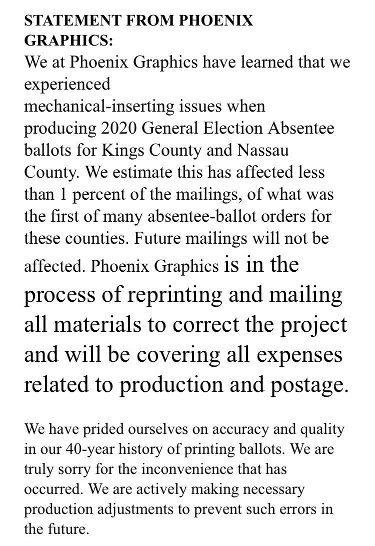 .@PG_Rochester finally weighs in on #brooklyn ballot mess. Statement below ⬇️⬇️⬇️