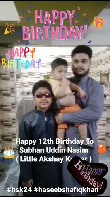 Happy 12th Birthday To Subhan Uddin Nasim ( Little Akshay Kumar ) by hsk