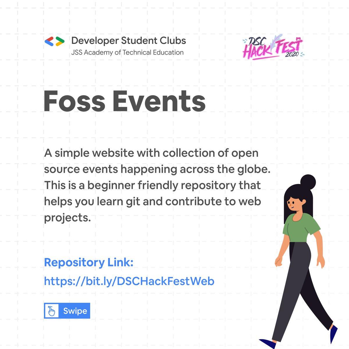 Foss Events Website ( Web ) Tech Stack:  ⭐️Frontend: HTML,CSS,JS, Bootstrap ⭐️ Backend: NodeJS ⚡️Link: https://t.co/kKsUM8WtJs  #hacktoberfest2020 #OpenSource #DeveloperStudentClubs #webdev #Website #Developer #CodeNewbie #100DaysOfCode #git #github https://t.co/Cz2beR2rVX