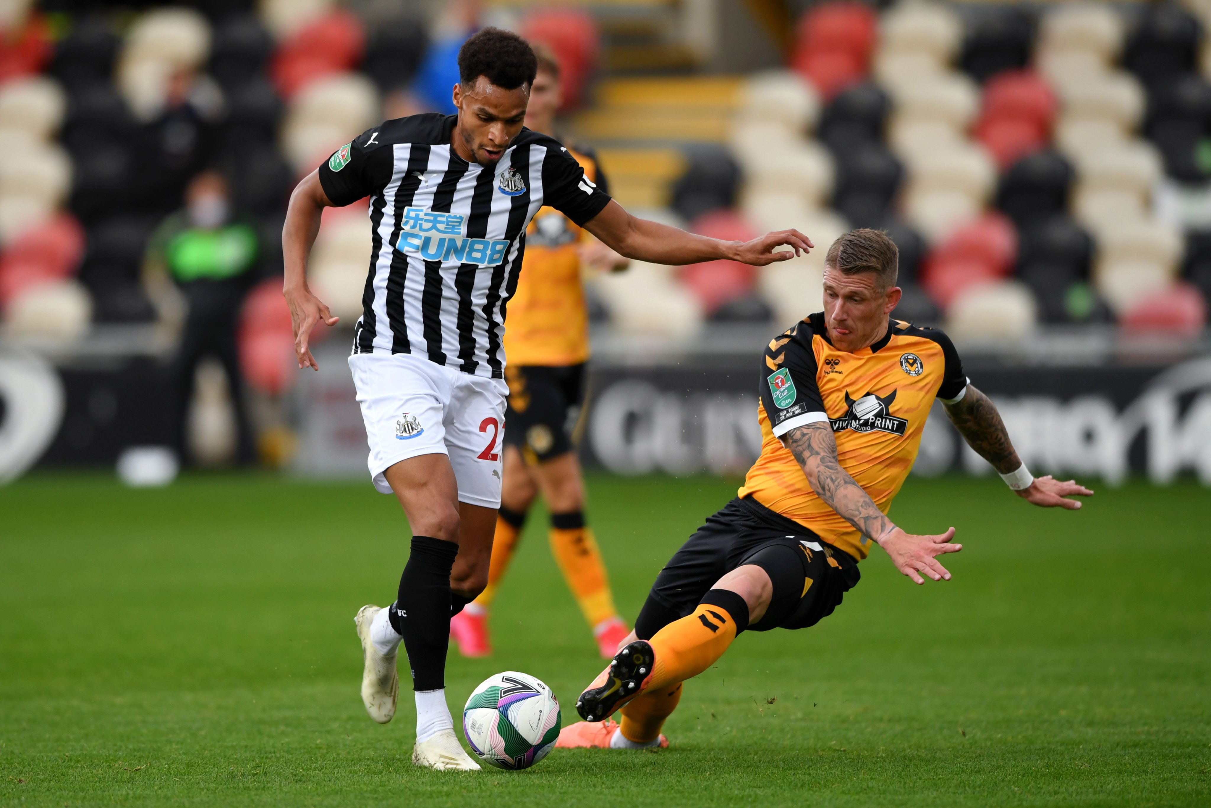 Newcastle star Murphy dribbles with ball