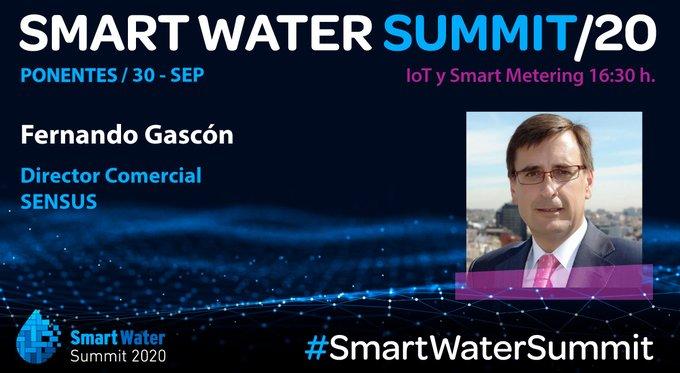 📢Fernando Gascón, Director Comercial de Sensus Xylem,  participa #AHORA en la sesión  sobre IoT & Smart Metering del #SmartWaterSummit.  ⏰ 17:20 ...