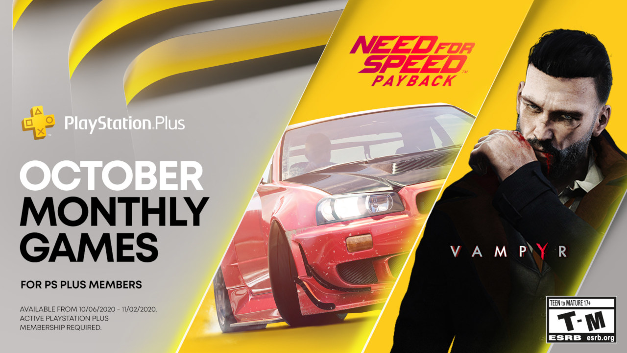 PS Plus Free Games October 2020