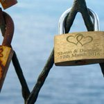 Image for the Tweet beginning: Dubrovnik's Love Lock Wall –