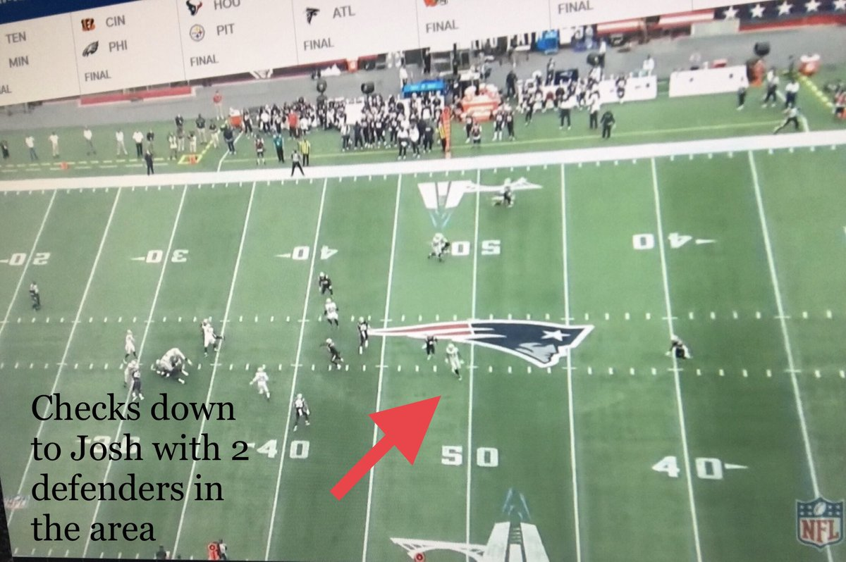 2nd quarter 7:18 first and 10 @ the 38. Waller is open... Throw it ahead of him and that's a big gain. @Raiders #Raiders #RaiderNation https://t.co/7nJgRFN0Db