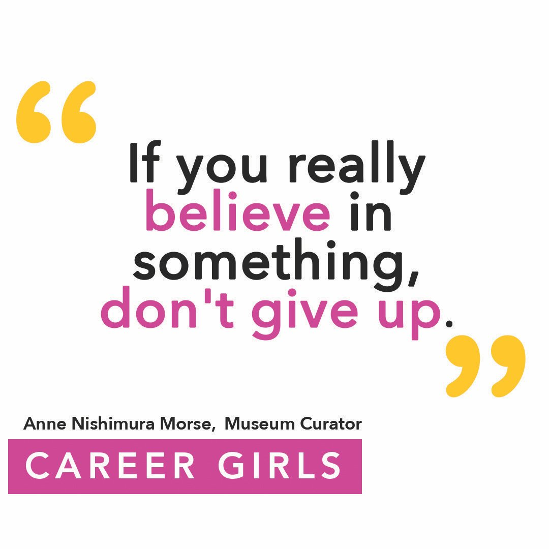 Watch Anne Nishimura Morse, Senior Curator of Japanese Art at the  Museum of Fine Arts, Boston One of her tips for success is that you don't give up on it if you believe in something. Watch her full interview at 💫https://t.co/hrF7wVM7Z5 . . .  @mfaboston #dontgiveup https://t.co/8MV8DbXzad