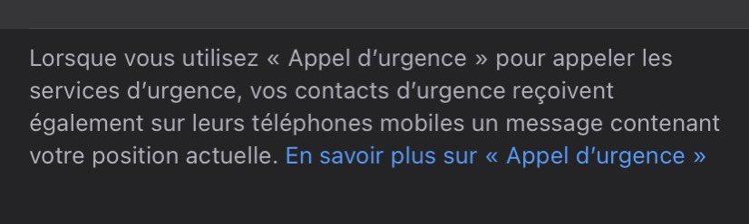 @IpiYeipiYo Je me permet de rajouter ça, n'hésitez pas à mettre des contacts d'urgence, il recevront une alerte ainsi que votre position en déclenchant un appel d'urgence ! https://t.co/RTXtNLvAQu