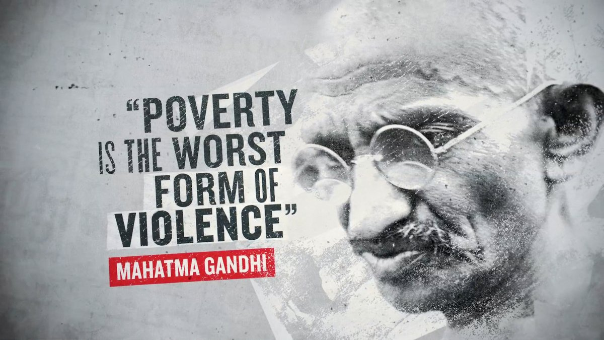 Poverty is the worst form of violence. - Gandhi #quote #wednesdaywisdom https://t.co/TY66nJ1coA