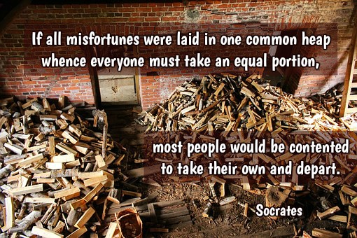 If all misfortunes were laid in one common heap whence everyone must take an equal portion, most people would be....  Socrates #quote https://t.co/EDUqx0tpSv