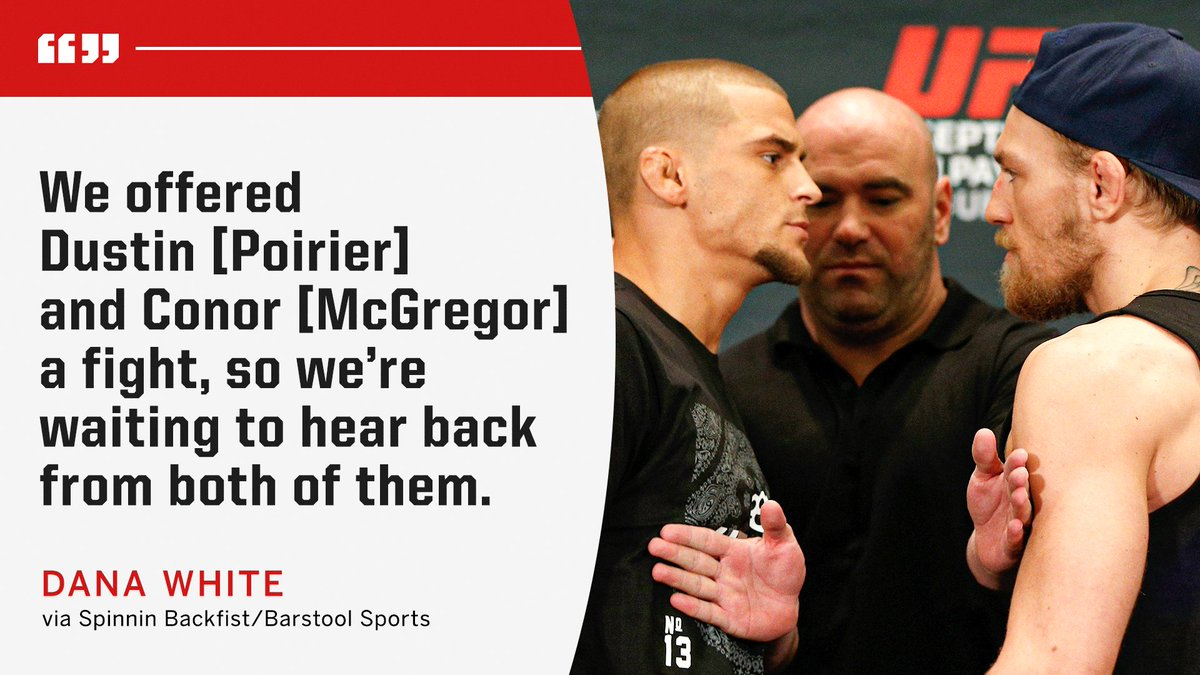 Dana White says UFC offered McGregor and Poirier the rematch 👀 https://t.co/5IF68WEgXJ