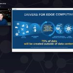 Image for the Tweet beginning: Drivers for #edgecomputing - LIVE