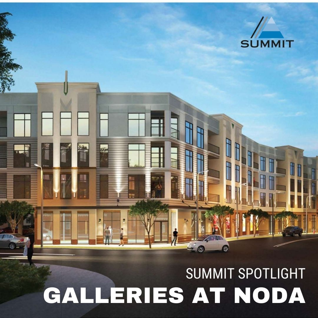 #SUMMITSpotlight - Galleries at NoDa in the <3 of the Charlotte, NC. Our team will provide special inspections on foundations & reinforced concrete on this 4-story multi-family wood-framed structure w/ a structural steel-framed podium on aggregate pier foundations. #summit #NODA https://t.co/hiBZ6Hnh8q
