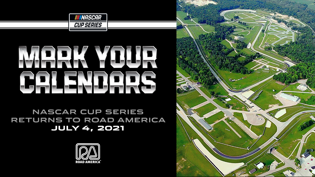 News: NASCAR CUP SERIES RACE AT ROAD AMERICA SET FOR JULY 4TH 2021 - Read More: 👀👉 https://t.co/F9bKM5Iytf https://t.co/E6VKzx4tst